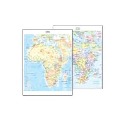 Cartina Geografica Italia Africa.Cartina Geografica Fisico Politica 29 7x42 Africa Cartine Geografiche Plastificate Belletti Editore